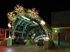 commercial entrance Christmas lighting