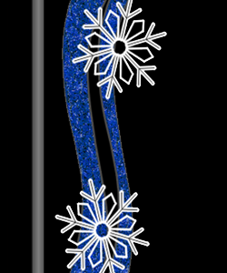 "Double Snowflake Window"" Pole Mount Canada"