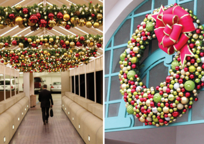 Commercial-holiday-garland-and-wreaths-for-Christmas