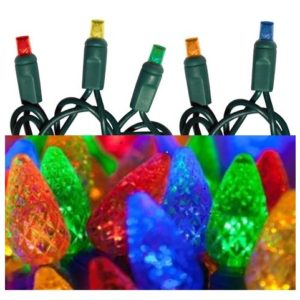 LED Mini 5mm Mini Lights & C6 Faceted (strawberry cone) Lights